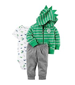 Carter's Baby Boys' 3 Piece Striped Dino Little Jacket Set