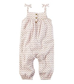 Carter's Baby Girls' Crinkle Gauze Jumpsuit
