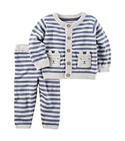 Carter's® Baby Boys 2 Piece Striped Little Sweater Set