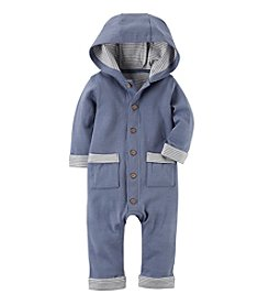 Carter's Baby Boys' Hooded Babysoft Coveralls