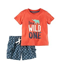 Carter's® Baby Boys 2 Piece Graphic Tee And Shorts Set