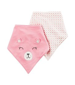 Carter's® Baby Girls' 2 Pack Bandana Bibs