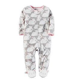 Carter's® Baby Girls' Bunny Print Footies