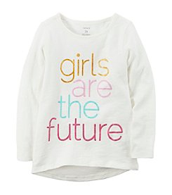 Carter's® Baby Girls' Long Sleeve Girls Are The Future Graphic Tee