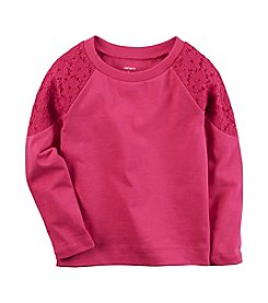 Carter's® Baby Girls' Long Sleeve Lace Shoulder Tee