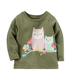 Carter's® Baby Girls' Long Sleeve Owl Graphic Tee