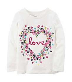 Carter's® Baby Girls' Long Sleeve Love Floral Graphic Tee