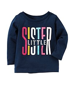 Carter's® Baby Girls' Long Sleeve Little Sister Graphic Tee