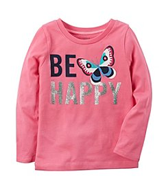 Carter's® Baby Girls' Long Sleeve Be Happy Graphic Tee