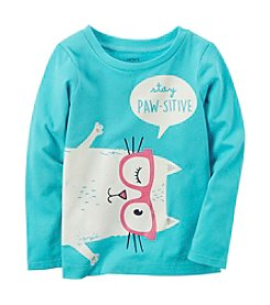 Carter's® Baby Girls' Long Sleeve Stay Pawsitive Graphic Tee