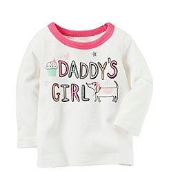 Carter's® Baby Girls' Long Sleeve Daddy's Girl Graphic Tee