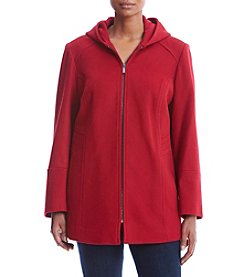 London Fog® Plus Size Hooded Softshell Jacket