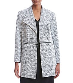Kasper® Plus Size Tweed Pattern Jacket