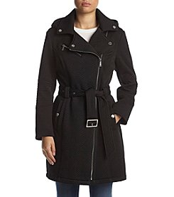 BCBG® Quilted Trench Coat