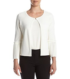 Ivanka Trump® Pleated Sleeve Sweater