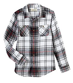 Ruff Hewn Boys' 8-20 Long Sleeve Flannel Woven Top