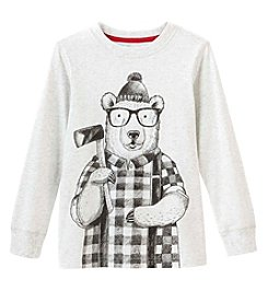 Carter's Boys' 4-8 Long Sleeve Winter Bear Tee