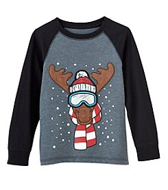 Mix & Match Boys' 2T-4T Long Sleeve Graphic Raglan Tee