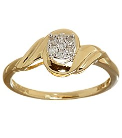 Yellow Gold 0.10 ct. t.w. Diamond Ring