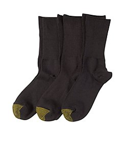 GOLD TOE® 3-Pack Ultra Soft Providence Turn Cuff Socks