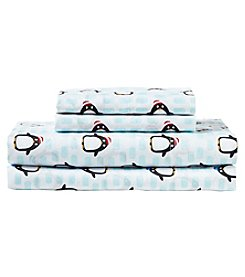 Living Quarters Easy Care Big Dreams Penguin Microfiber Sheet Set