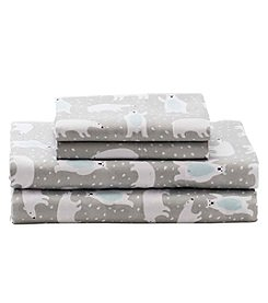 Living Quarters Easy Care Big Dreams Polar Bear Microfiber Sheet Set