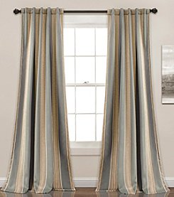 Lush Decor Julia Striped Room Darkening Curtain Set