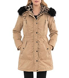 Belle Badgley Mischka® Coated Cotton Parka