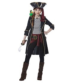 High Seas Captain Girl Child Costume