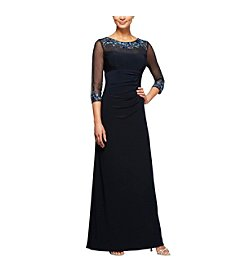 Alex Evenings Embellished Neckline Gown