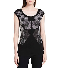 Calvin Klein Floral Studded Top