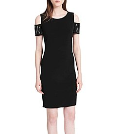 Calvin Klein Cold Shoulder Studded Dress