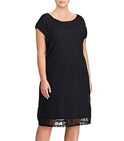 Lauren Ralph Lauren® Plus Size Mesh Lace Dress