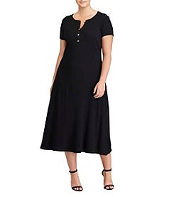 Lauren Ralph Lauren&Reg; Plus Size Crew Neck Dress