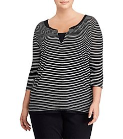 Lauren Ralph Lauren® Plus Size Striped Knit Top