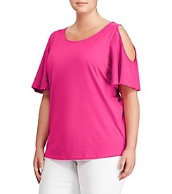 Lauren Ralph Lauren® Plus Size Lightweight Pleated Jersey Top