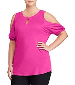 Lauren Ralph Lauren® Plus Size Cold Shoulder Knit Top