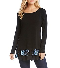Karen Kane Embroidered Insert Sweater