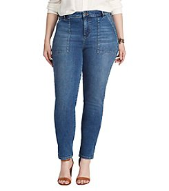 Chaps® Plus Size Denim Stretch Pants