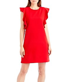 Nicole Miller New York Ruffle Sleeve Shift Dress