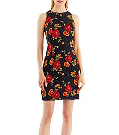 Nicole Miller New York Floral Embroidery Lace Dress