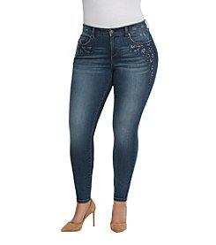 Vintage America Blues™ Plus Size Boho Skinny Embroidered Jeans