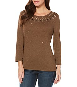 Rafaella® Embellished Tunic Top