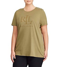 Lauren Ralph Lauren® Plus Size Kaitlin Short Sleeve Knit Top