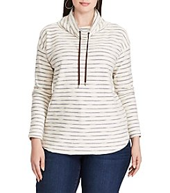 Chaps® Plus Size Striped Terry Pullover Top