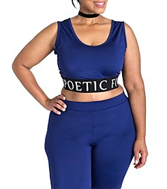 Poetic Justice® Plus Size Ryan Fit Fashion Bra Top