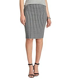 Chaps® Houndstooth Pencil Skirt