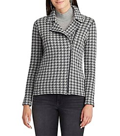 Chaps® Houndstooth Moto Jacket
