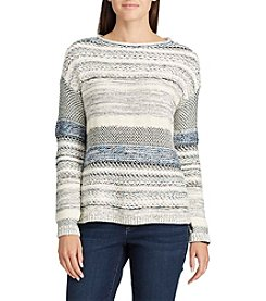 Chaps® Stripe Tunic Sweater
