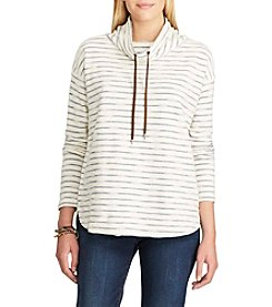 Chaps® Striped Terry Pullover Top